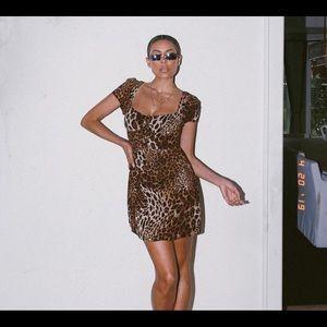 Medium Leopard dress : Tiger Mist